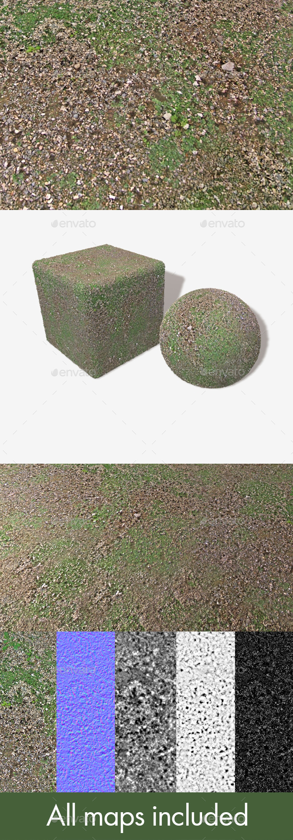 Gravel Weeds Seamless Texture - 3DOcean Item for Sale