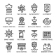 Set Line Icons of House Systems - GraphicRiver Item for Sale