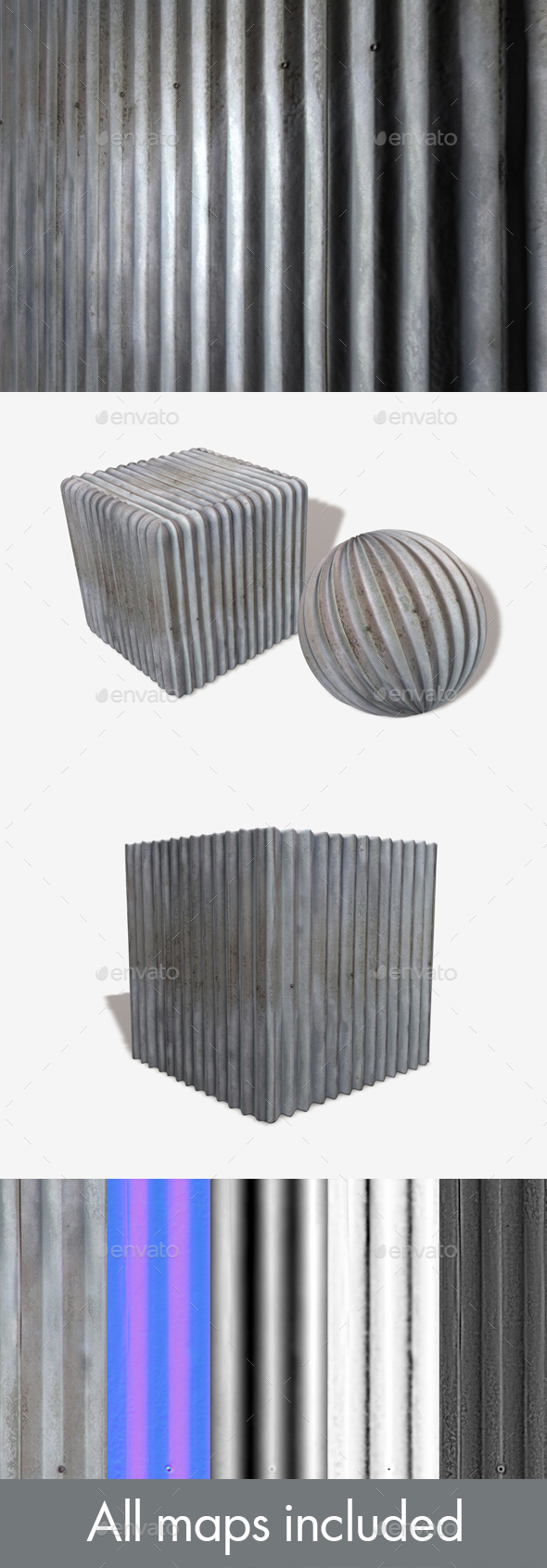 Metal Panel Seamless Texture - 3DOcean Item for Sale