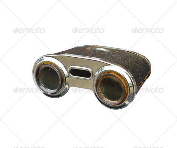 Old binoculars - Stock Photo - Images