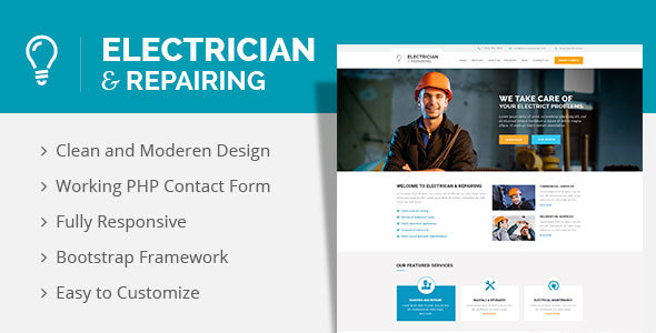 Electrician & Repairing WordPress Theme