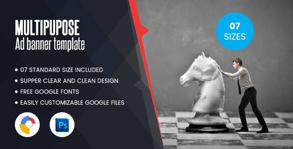 Multi Purpose Banners HTML5 D1 - Google Web Designer - CodeCanyon Item for Sale