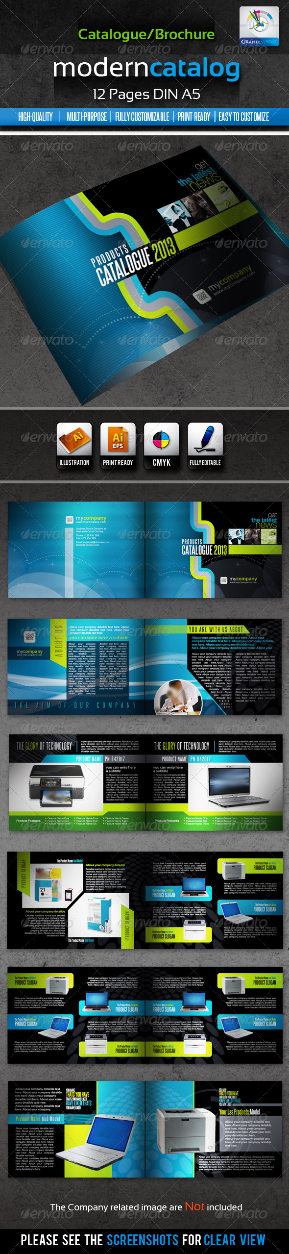 Corporate Modern Product Catalogue/Brochure 12page - Catalogs Brochures