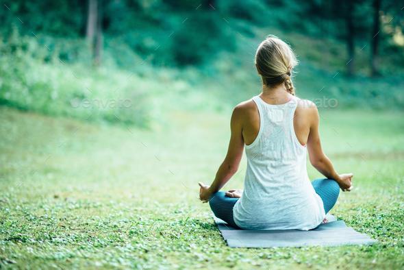 Yoga Lotus - Stock Photo - Images