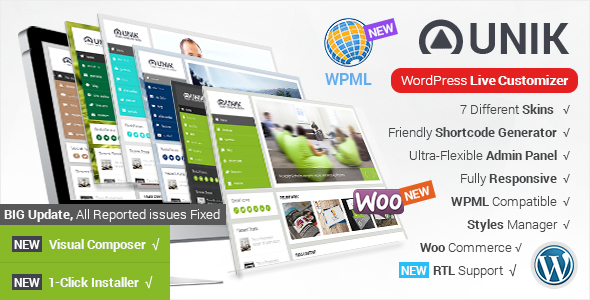 Unik - Responsive Multi-Purpose Theme