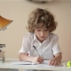 A Child Of Primary School Age Do Homework. Boy Did Homework And Went For a Walk - VideoHive Item for Sale