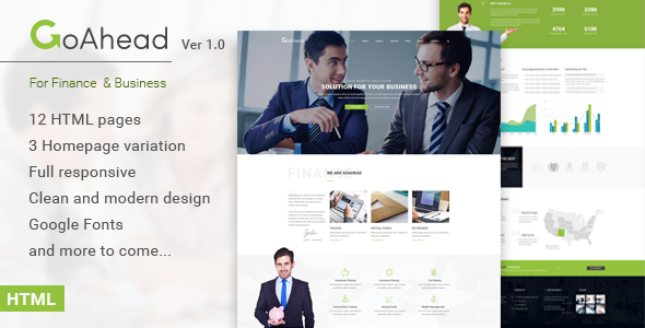 GoAhead – Finance & Business HTML Template
