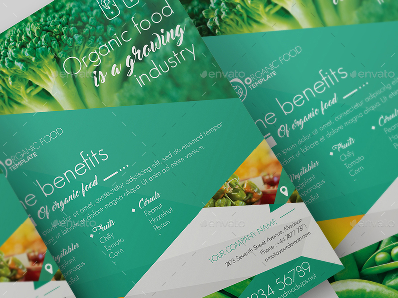 Organic Food Flyer Template By Wutip  Graphicriver