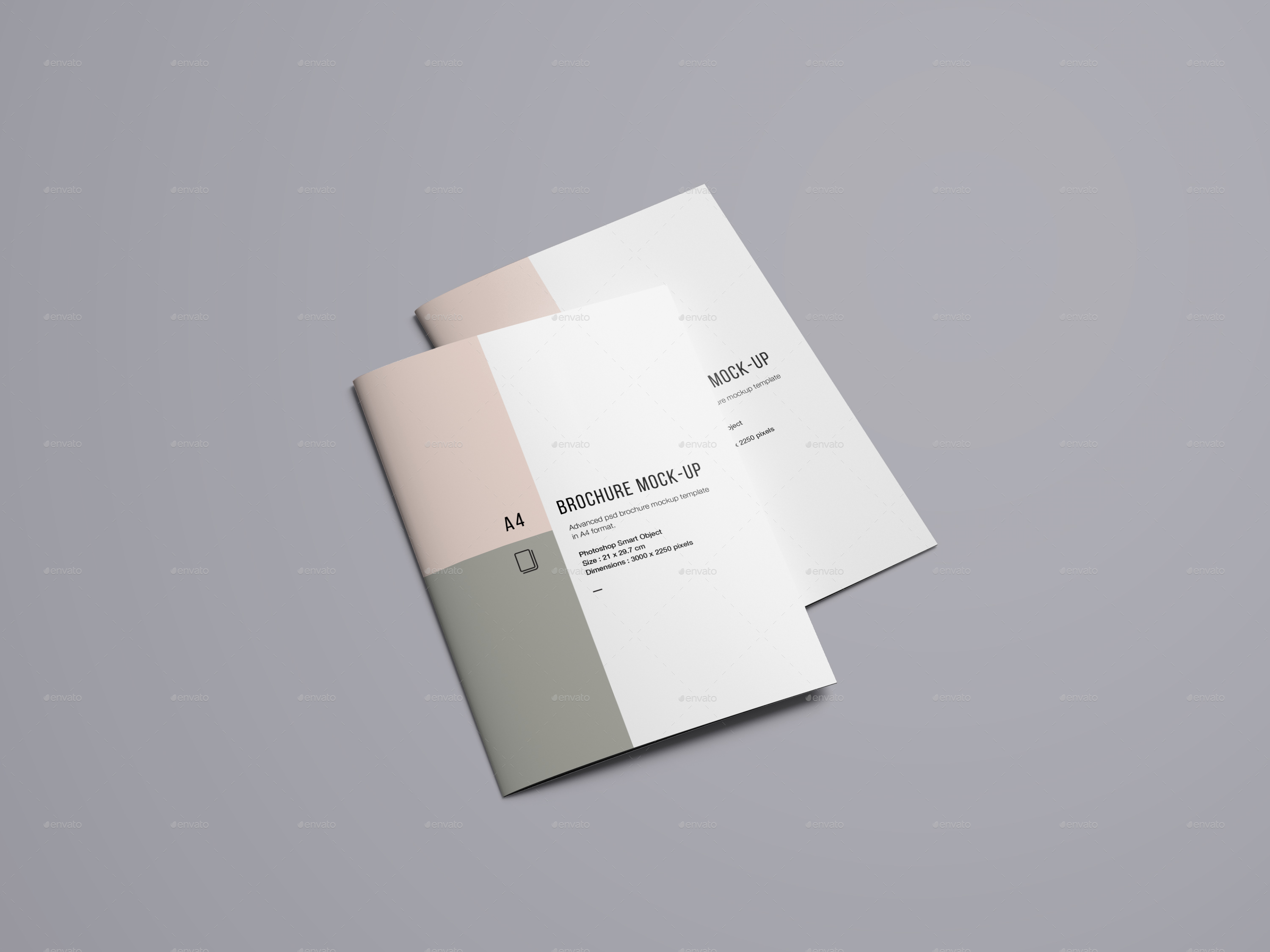 A Brochure Mockup By Blugraphic GraphicRiver - Brochure mockup template
