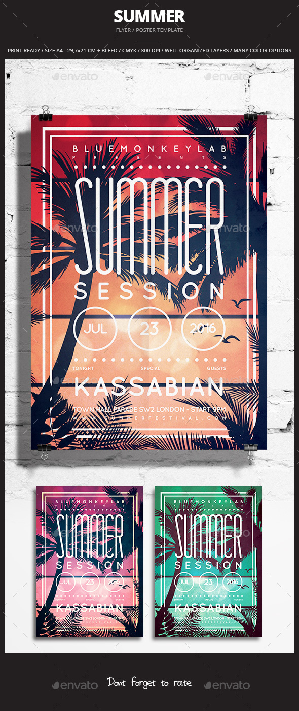 Summer Flyer / Poster 2 - Events Flyers