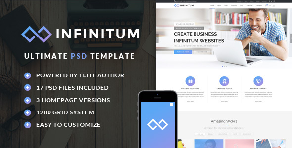 Infinitum – Ultimate PSD Template
