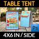 Sandwich Restaurant Table Tent Template - GraphicRiver Item for Sale