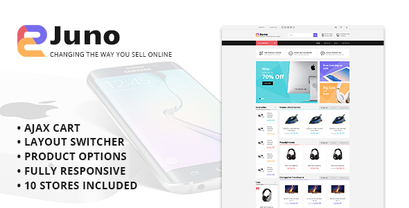Juno – Multipurpose Opencart Template