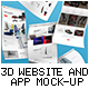 3D Website and App Mockups - GraphicRiver Item for Sale
