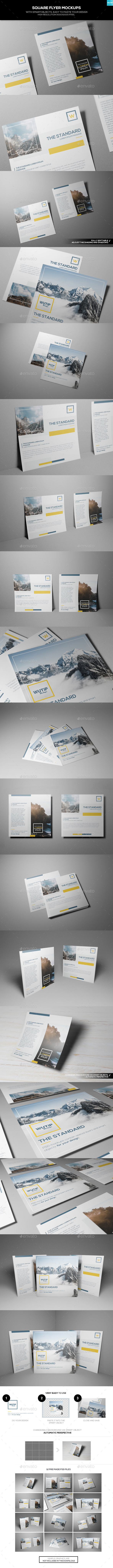 Square Flyer Mockups - Flyers Print