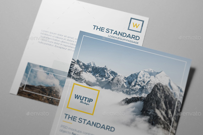 Square Flyer Mockups by Wutip   GraphicRiver
