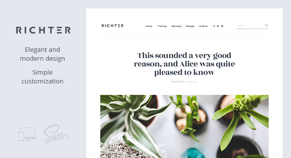 Richter – Creative WordPress Blog Theme - Blog / Magazine WordPress
