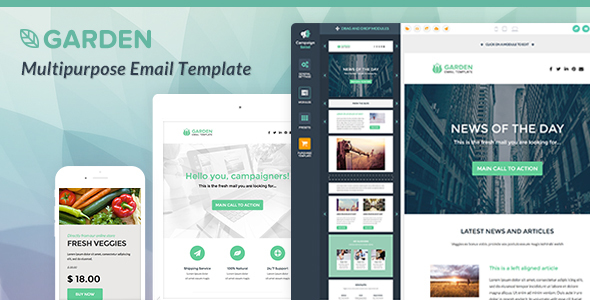 Garden – Responsive Email Template + NEW Builder