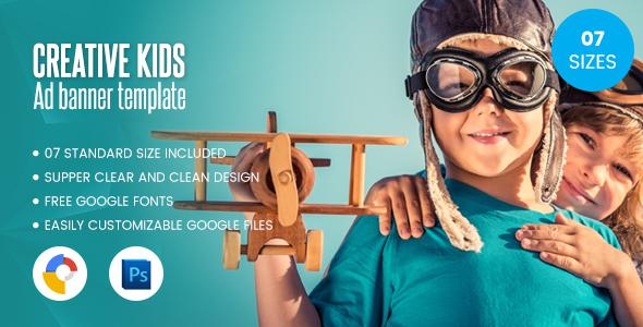 Kids Creative Banner Html5 Google Web Designer By