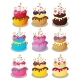 Happy Birthday Cake With Numbers Set Vector - GraphicRiver Item for Sale