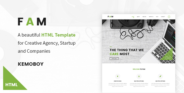 FAM – Creative Agency HTML Templates