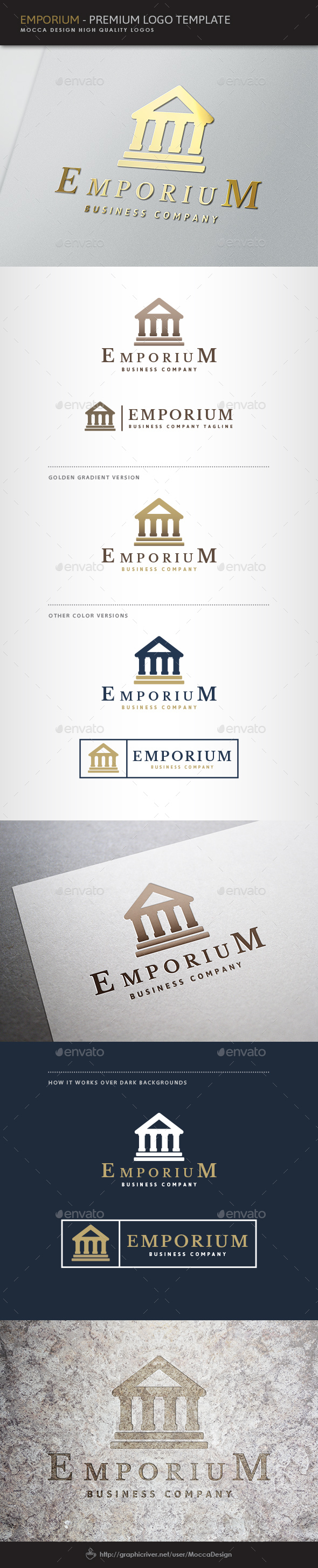 Emporium Logo - Buildings Logo Templates