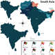 Political Map of South Asia - GraphicRiver Item for Sale