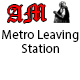 Metro Train Leaving Station