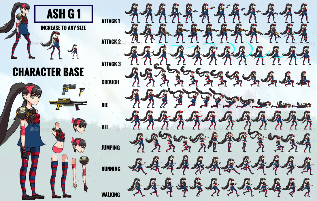 Anime Character 2d : D anime super heroes kit of w sprites backgrounds