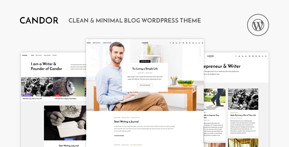 Candor - Responsive WordPress Blog Theme - Personal Blog / Magazine