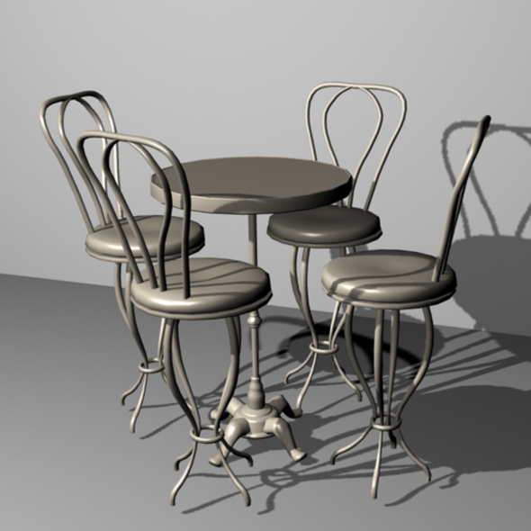 Cafe Table and Chairs
