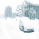 Houses And Cars In Snowstorm - VideoHive Item for Sale