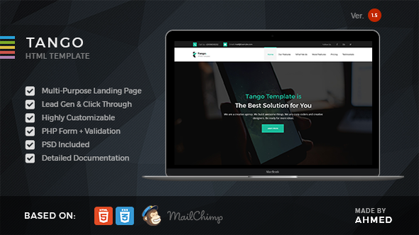 Image of Tango - Responsive Multi-Purpose Landing Page