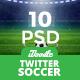Soccer Twitter Headers - 05 PSD