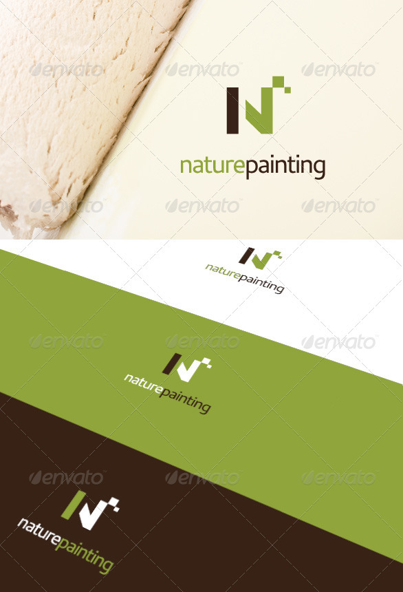 Nature Painting Logo - Letters Logo Templates