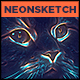 Neon Sketch - Photoshop Action - GraphicRiver Item for Sale