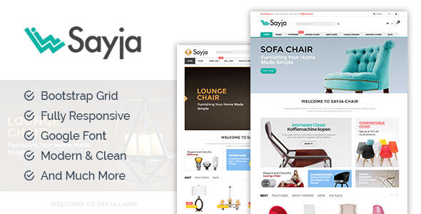 Sayia – multipurpose eCommerce template