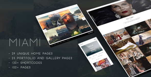 Miami - Creative Photography Portfolio Theme