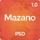 Mazano - Multi-purpose PSD Template - ThemeForest Item for Sale