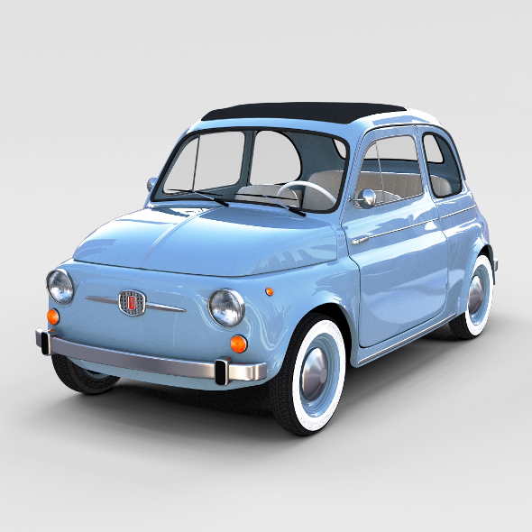 Fiat Nuova 500 1957 rev - 3DOcean Item for Sale