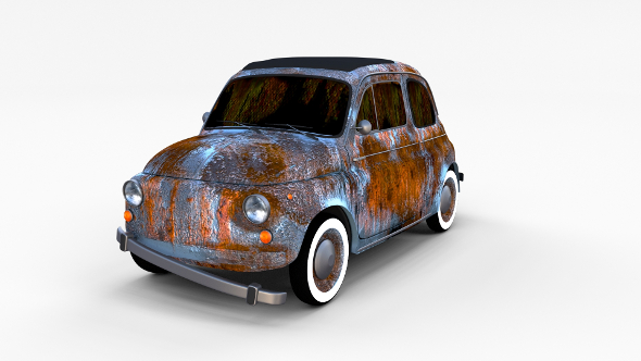 Rusty FIat 500 Nuova rev - 3DOcean Item for Sale