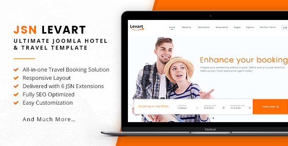 JSN Levart – Ultimate Joomla Hotel & Travel Template
