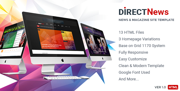 DirectNews – News & Magazine HTML Template