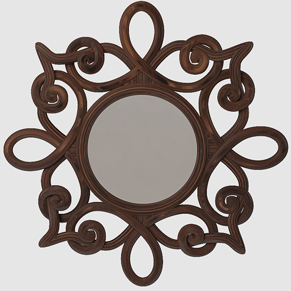 Round wall Mirror - 3DOcean Item for Sale
