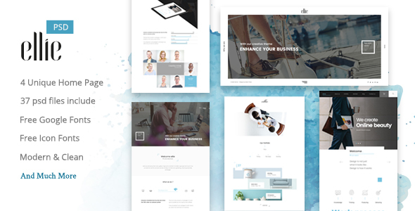 Ellie Creative PSD Template - Creative PSD Templates