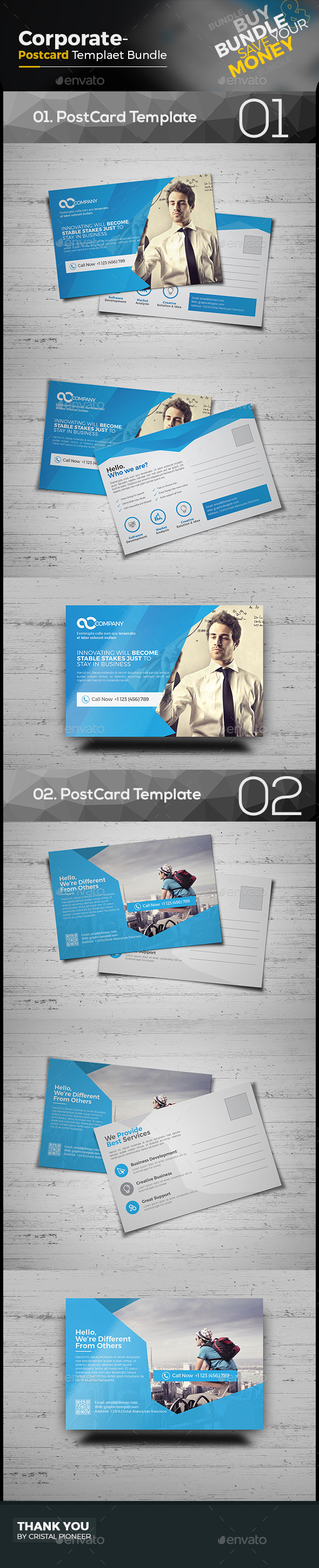 Consulting Postcard Graphics, Designs & Templates