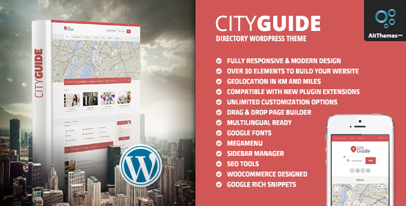 City Guide - Listing Directory WordPress Theme