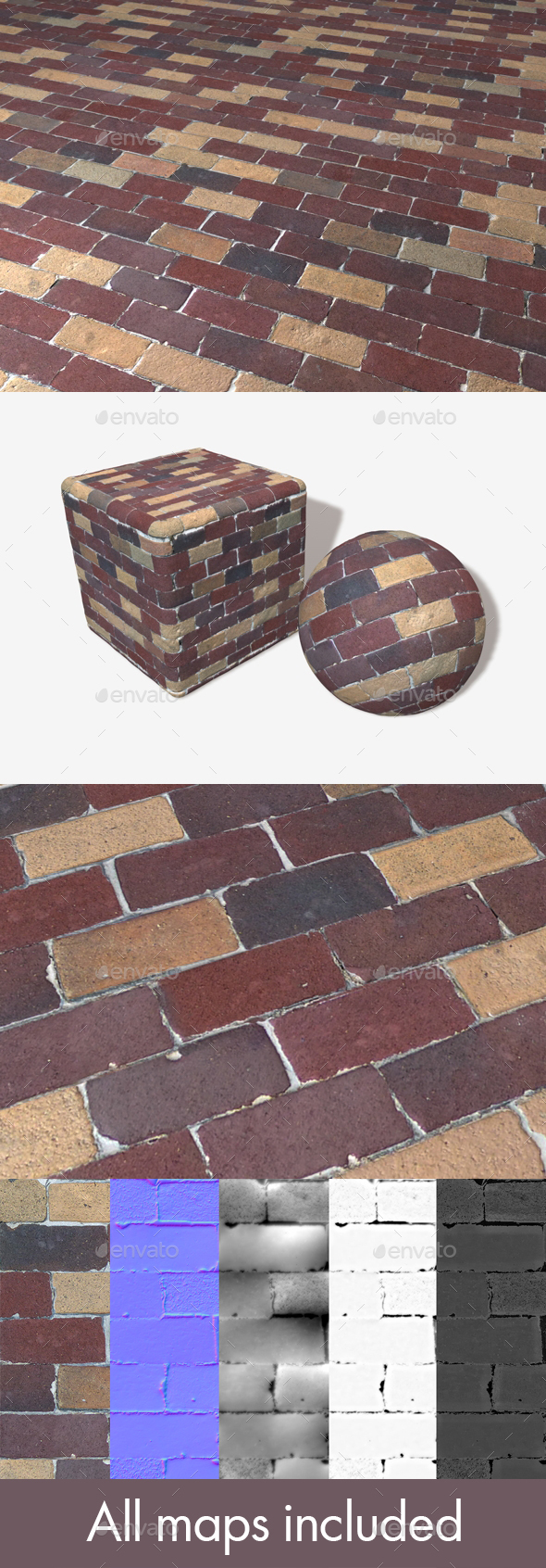 Colourful Bricks Seamless Texture - 3DOcean Item for Sale