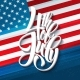 American Independence Day Lettering Design. - GraphicRiver Item for Sale