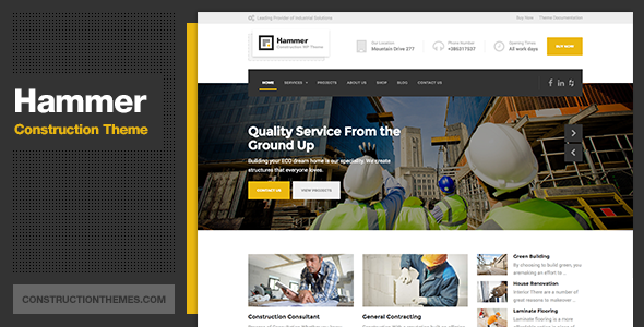 Hammer – Construction WordPress Theme